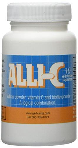 ALLI-C Allicin with Vitamin C and Bioflavonoids - 30 Vegetarian Capsules Capture The Power of Garlic