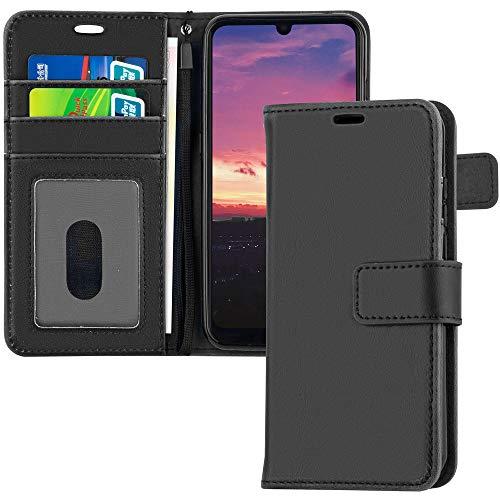 TECHGEAR Leder Hülle Nokia 1.3 - PU Leder Flip Hülle Schutzhülle Ledertasche [Brieftasche] Handyhülle mit Ständer & Handschlaufe Beutel kompatibel mit Nokia 1.3 - Schwarz