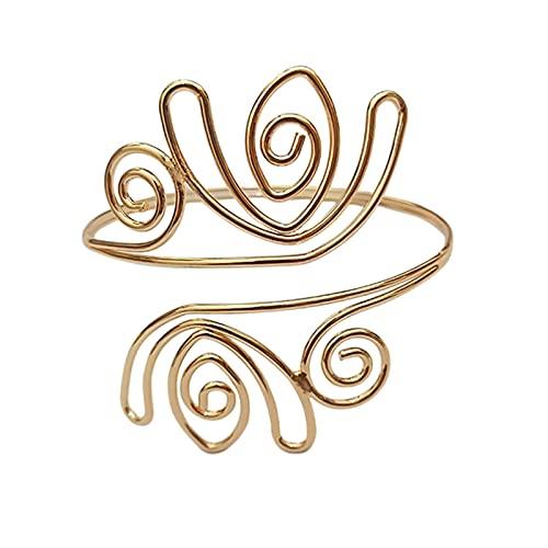 N\C Brazalete para Hombre, Mujer, Regalo de cumpleaños, Brazalete Personalizado Hecho de Materiales de Primera Calidad - Oro