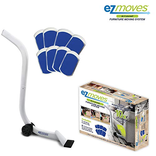 Allstar Innovations EZ Moves Furniture Moving System for Carpeted & Hard Floor Surfaces, Move Heavy Furniture Quickly & Easily, As Seen on TV (1 Lifter Tool & 8 Sliders)