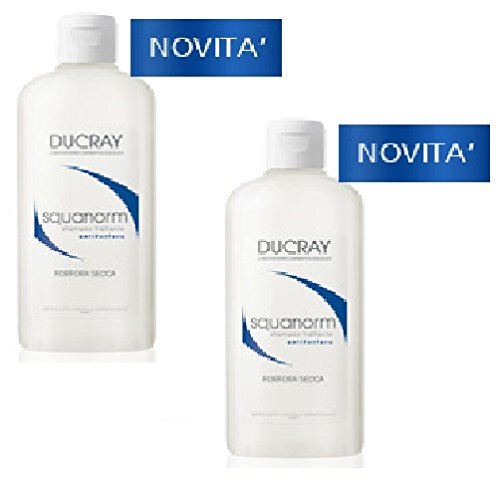2 Ducray Squanorm Shampoo für trockene Schuppen, 200 ml.