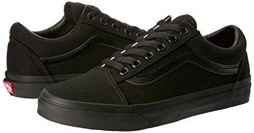 VANS Unisex Old Skool Skate Shoes, Comfortable and Durable Canvas Upper and Padded Tongue and Signature Vans Rubber Waffle Outsole