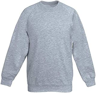 Get Wivvit Boys Girls Unisex Crew Neck Navy Sweatshirt School Uniform Jumper Sizes from 5 to 15 Years