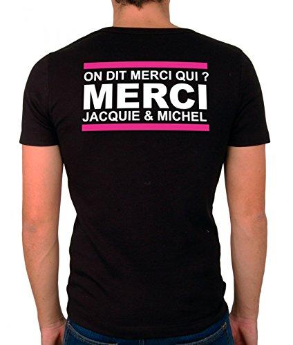 Tee shirt JACQUIE et MICHEL taille XL marquage DOS autres tailles dispo dans notre boutique