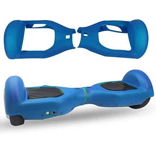 ABBY Protectora Funda de Silicona para 6.5' Smart Scooter Balance Patinete Electrico Hoverboard Cover (Azul)