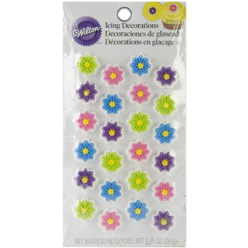 Wilton Flower Cookie Decorations, Mini