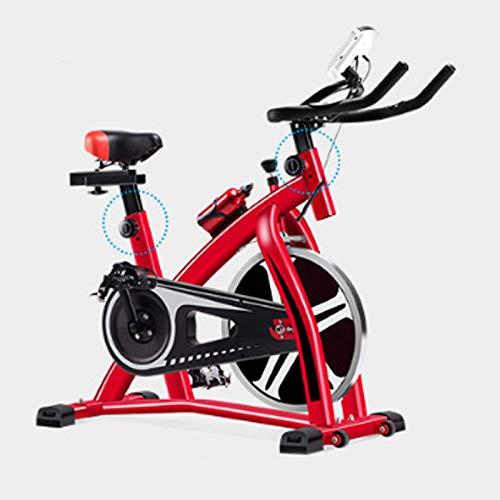 NFJ Heimtrainer, Fitness-Bike, Cardio-Bike, Trainingscomputer,Einstellbarer Grenzenloser Widerstand,Ergonomischer Sattel, Max. 250kg,Red