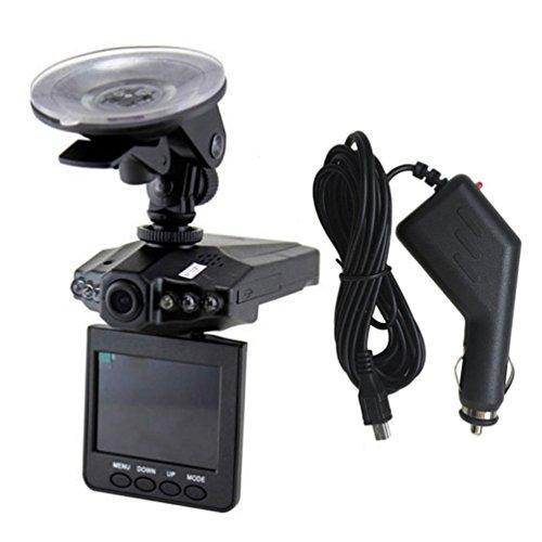 2.5'HD Car Led Dvr Road Dash Video Cámara Grabadora Videocámara LCD 270 ° Grabadora de estacionamiento Sensor Cmos Grabación de Alta Velocidad (Negro)