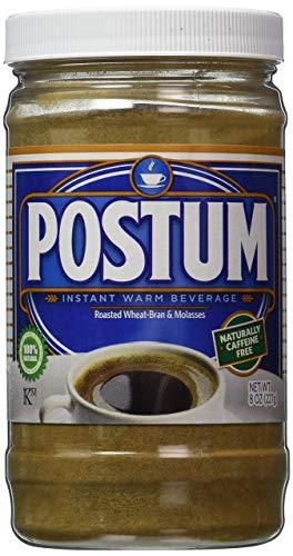 Postum Wheat Bran & Molasses Coffee Alternative (8oz)   Caffeine Free Instant Coffee Substitute   Natural Blend, Rich, Tasty, Healthy, Dietary Beverage for Breakfast, Gourmet & Pantry Pack