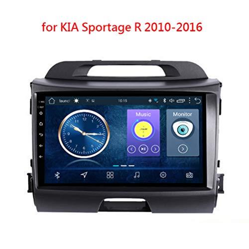 Gokiu Andnoid 8.1 GPS para Coches, Car Radio Mp5 Stereo Player Pantalla Táctil De 9 Pulgadas, 2 DIN WiFi/Mirror Link/Bluetooth/SD/FM, Navegador GPS Coche para for KIA Sportage R 2010-2016