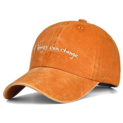 El Sombrero Unisex se Puede Cambiar Gorra de béisbol Bordada Gorra Casual Hombres Mujeres Gorra Retro de algodón Lavable Ajustable
