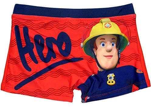 Feuerwehrmann Sam Kollektion 2018 Badeshorts 92 98 104 110 116 122 128 Jungen Badehose Fireman Sam Rot-Blau (Rot-Blau, 104-110)