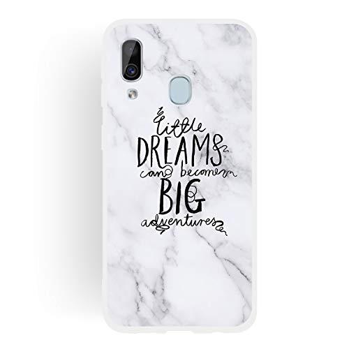 Hirkase Samsung Galaxy A40 Caja del teléfono,Samsung Galaxy A40 Funda para TPU Funda Silicona A Prueba de Golpes Ultrafina Suave Cover Protectora Mármol Case Anti Rasguño(Sueño)