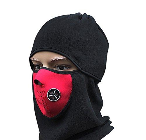 Masque thermique en polaire demi-tête - Rouge