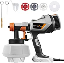 BATAVIA Paint Sprayer, HVLP Electric Spray Gun, Easy-To-Go 1200ml Container, Easy to Clean, 4 Nozzles 3 Spray Patterns, Ideal for Home Interior and Exterior Walls, Ceiling, Fence, Cabinet, Furniture