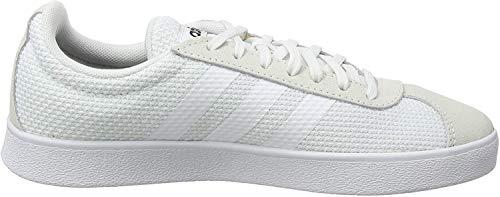 adidas Damen VL Court 2.0 Sneaker, Weiß (Footwear White/Footwear White/Core Black 0), 39 1/3 EU