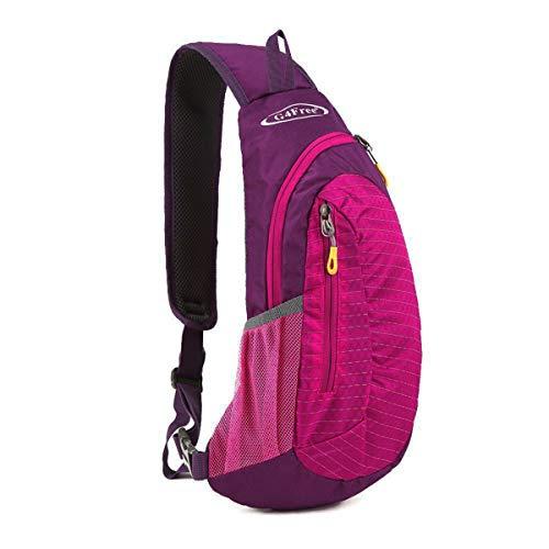 G4Free Sling Bags Shoulder Backpack Small Cross Body Chest Sling Pack (Rose)