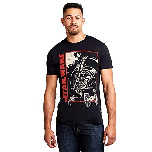 Star Wars Vader Poster T-Shirt, Nero (Black Blk), (Taglia Produttore: Medium) Uomo