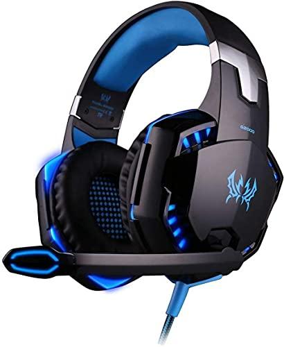 SENHAI G2000 Gaming Headset Earphone 3,5 mm avec LED rétro-éclairé et Mic Stereo Basse Noise Cancelling for Computer Game Player par Senhai (Noir)