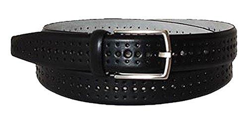 BOSS Ceinture homme men's belt leather black 85cm