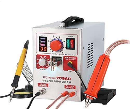 Hanchen Akku Punktschweißgerät 3,2KW Batterie Schweißgerät LED Pulse Spot Welder mit Lötkolben 2 in 1 für 18650 22650 32650 Batterie Akkupacks Polymer-Akku 220V CE