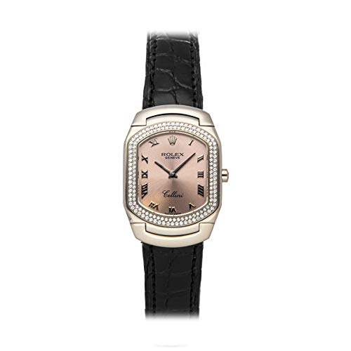 Rolex Cellini Quartz (Battery) Pink Dial Womens Watch 6681/9 (Pre-Owned)