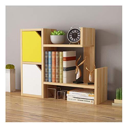 Schreibtisch Organisator Desktop-Bücherregal Thekenbücherregal, Schreibtisch Bücherregal Speicher-Organisator-Anzeigen-Regal-Rack for Bürobedarf Ordner-Ablagesysteme (Color : C)