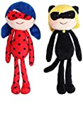 Honeytoy Miraculous 20cm Ladybug & Chat Noir Adrien Marinette Weihnachten Halloween...