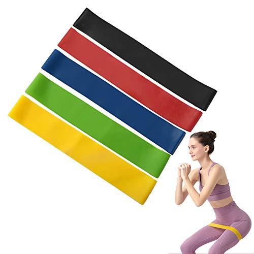 Círculo de Resistencia, Anillo de Cadera de Fitness con Banda de Resistencia con 5 Niveles de Resistencia para Ejercicios de Fitness, Pilates, Fisioterapia (Juego de 5) (A (Pound Mark)) ✅