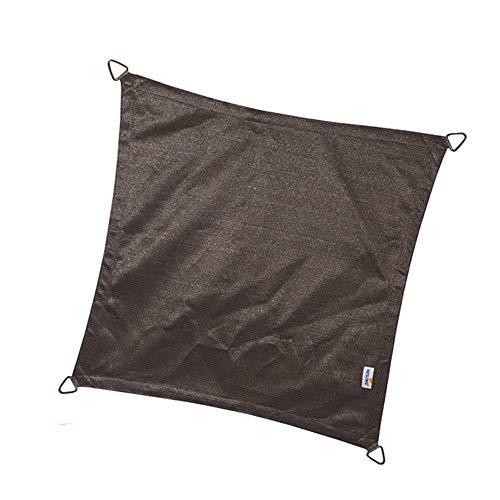 nesling Coolfit Voile D'ombrage (Carré 3,6m x 3,6m x 3,6m x 3,6m, Anthracite) Protection Solaire, Eau et Vent perméable, Protection UV