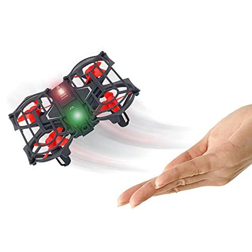 Kikioo Mini giocattolo quadricottero telecomandato da 2,4 GHz, rotazione a 360 ° e induzione a infrarossi Drone LED a quattro assi, una chiave di ritorno Mantenimento dell'altitudine per bambini Gioca