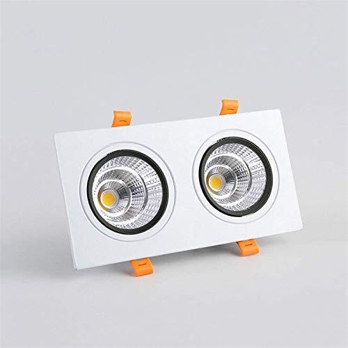 Mini panel de techo empotrado Luz Focos cuadrados pequeños, lámpara de rejilla de doble cabeza Comercial Embedded LED LED LED Empotrado Downlights 3-30W Corte Agujero Lámparas para Tiendas de Hotel Of