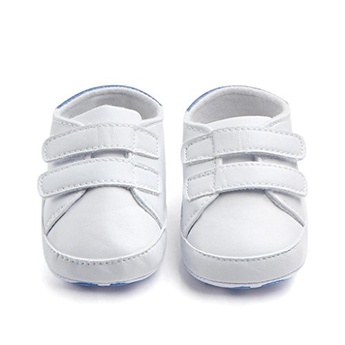 Chaussures bébé,Xinan Chaussures Garçon Fille Cuir Souple Chaussures Antidérapant 3 Couleurs (Bleu, 3-6M)