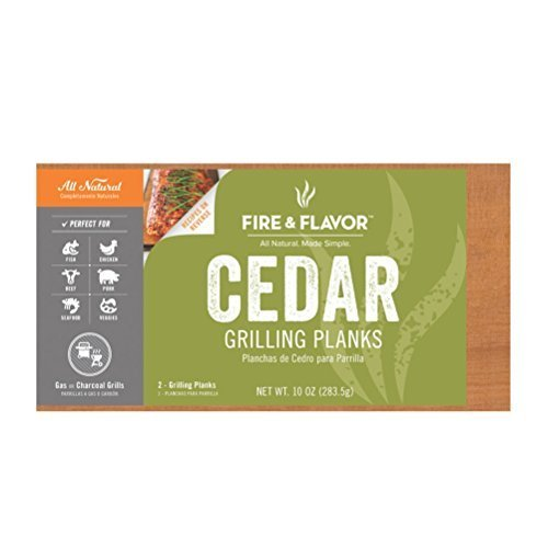 Fire & Saveur Cèdre Griller Planches, 27,9 cm, 2 Planches en feu et Saveur