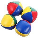 TOYANDONA 4Pcs 5Cm Juego de Bolas de Malabares Mini Equipo de Malabares Bolas de Malabares de Cuero Juguete de Malabares Creativo Bolas de Malabares Suaves Fáciles para Principiantes Niños