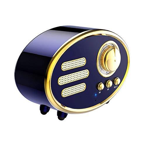 GANE Altavoces Bluetooth Portátil Retro Radio inalámbrica Vintage Retro Mini Home Subwoofer Regalos
