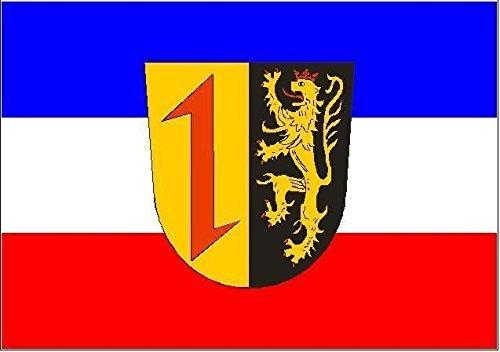 U24 Aufkleber Mannheim Flagge Fahne 8 x 5 cm Autoaufkleber Sticker
