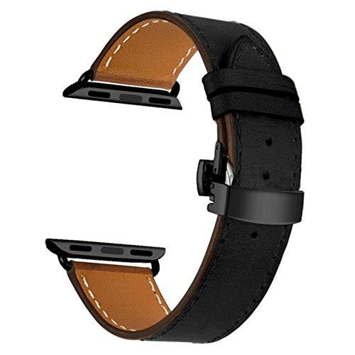 Correa de cuero genuino de primera calidad para Apple Watch 4 bandas 40 mm 44 mm Correa de muñeca de repuesto para iWatch 1/2/3 38 mm 42 mm Cinturón de pulsera