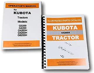 Kubota G5200H Tractor Operators Owners Manual Parts Catalog Set