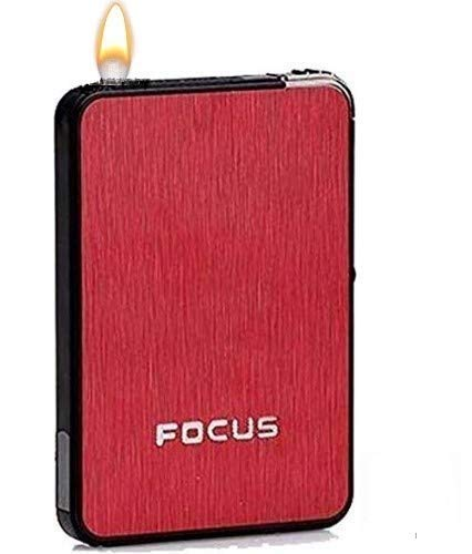 Yuvi fashion point ® Focus Automatic Ejection Fancy ABS Cigarette Case with Lighter (Random Color Will Ship)