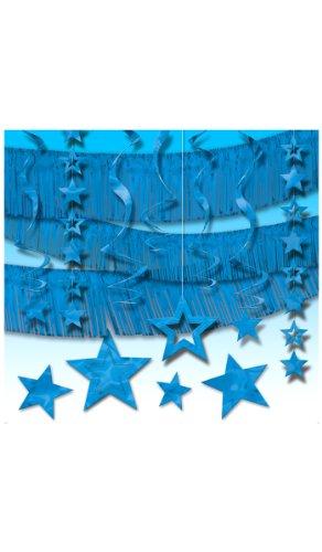 amscan - 248020-01 - Décoration de Fête - Kit Déco Guirlandes - Bleu