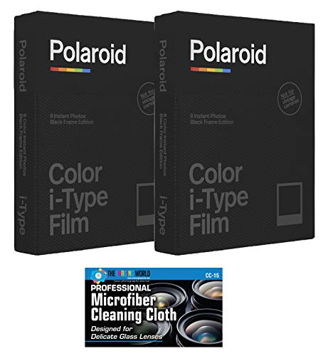 Impossible/Polaroid Color Glossy Instant Film Black Frame Edition for Polaroid I-Type OneStep2 Camera - 2-Pack Idaho