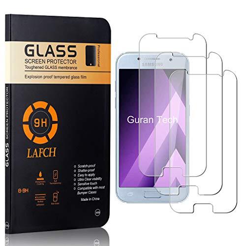 Vetro Temperato per Galaxy A3 2017, LAFCH Alta Trasparenza Pellicola Protettiva, Resistente ai Graffi Vetro Temperato per Samsung Galaxy A3 2017, 3 Pezzi