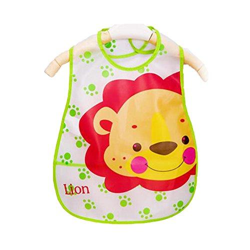 Weich-PVC, EVA-Baby wasserdichte Lätzchen für 1-3 Jahre Baby Grüner Löwe