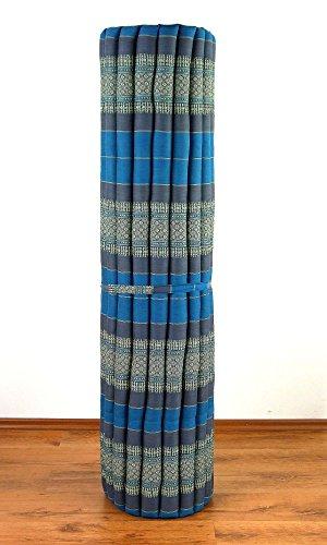 livasia XL Kapok Rollmatte der Marke, 200cm (Länge) x 145cm (Breite) x 4,5cm (Höhe), Entspannungsmatte, Yogamatte, Rollmatratze, Gästematratze, Gästebett (Rollmatte XL)