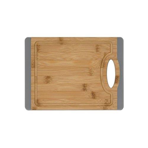 Planche à découper Gary Bambou/Silicone env. 27 x 20 cm avec poignée
