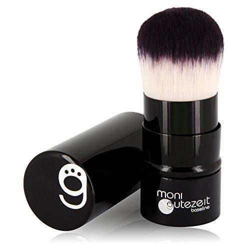 TOPSELLER: Einziehbarer Kabuki Pinsel mit besonders weichem Synthetik-Haar, für Make-Up Puder Produkte, retractable brush