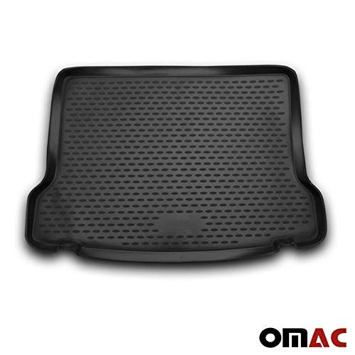 OMAC Auto Kofferraummatte Laderaumwanne Kofferraumshutz für GLA-Klasse X156 2013-2020 3D Passform Hoher Rand Antirutschmatte Gummi Matte Kofferraumwanne schwarz