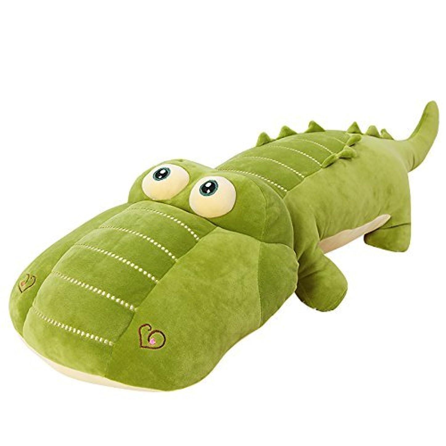 共役お風呂記録(viviwo) 抱きまくら ワニ おもちゃ ワニぬいぐるみ 可愛い クッション イベント お祝い ワニ 抱き枕 (65cm)