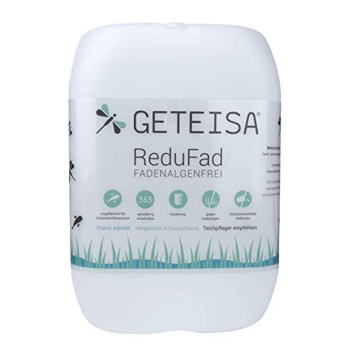 GETEISA ReduFad 10 Liter • Fadenalgenvernichter • Algenvernichter Teich, Gartenteich, Koiteich • Fadenalgen dauerhaft entfernen • fadenalgenfrei